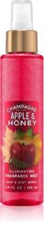 Bath & Body Works Champagne Apple & Honey tělový sprej pro ženy 146 ml třpytivý