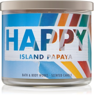 Bath & Body Works Happy Island Papaya Scented Candle 411 g