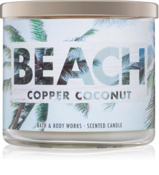 Bath & Body Works Beach Copper Coconut Duftkerze  411 g