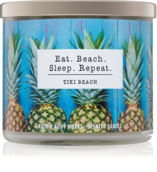 Bath & Body Works Tiki Beach Geurkaars 411 gr I. Eat. Beach. Sleep. Repeat.