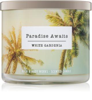 Bath & Body Works White Gardenia duftkerze  III. Paradise Awaits 411 g