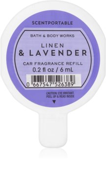 Bath & Body Works Linen & Lavender parfum pentru masina 6 ml Refil