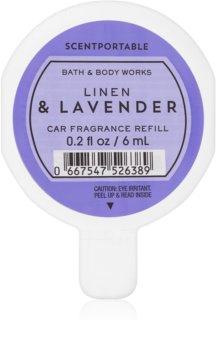 Bath & Body Works Linen & Lavender vôňa do auta 6 ml náhradná náplň