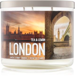 Bath & Body Works Tea & Lemon vonná sviečka 411 g  London