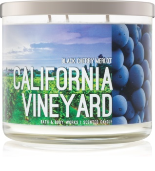 Bath & Body Works Black Cherry Merlot scented candle I. California Vineyard 411 g
