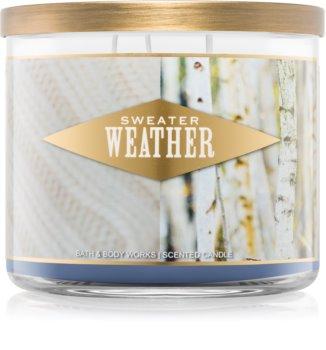 Bath & Body Works Sweater Weather dišeča sveča  411 g I.
