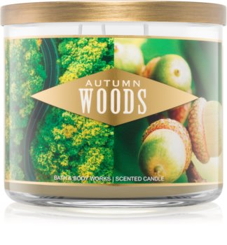 Bath & Body Works Autumn Woods geurkaars III. 411 gr