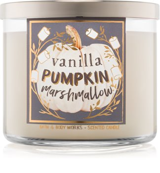 Bath & Body Works Vanilla Pumpkin Marshmallow illatos gyertya  411 g I.