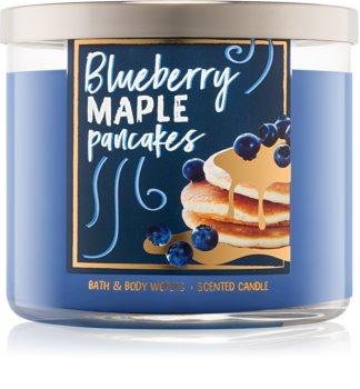 Bath & Body Works Blueberry Maple Pancakes vonná svíčka 411 g