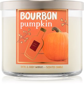 Bath & Body Works Bourbon Pumpkin vonná svíčka 411 g