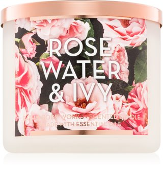 Bath & Body Works Rose Water & Ivy vonná svíčka 411 g II.