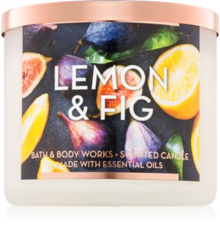 Bath & Body Works Lemon & Fig vonná svíčka 411 g