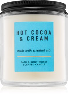 Bath & Body Works Hot Cocoa & Cream ароматна свещ  IV. 198 гр.
