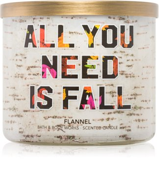 Bath & Body Works Flannel Scented Candle 411 g