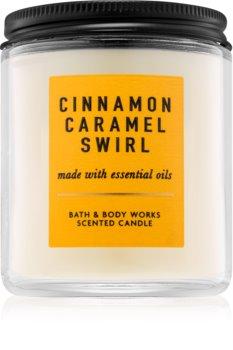 Bath & Body Works Cinnamon Caramel Swirl vonná sviečka 198 g I.