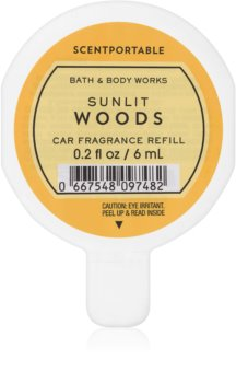 Bath & Body Works Sunlit Woods désodorisant voiture 6 ml