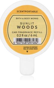 Bath & Body Works Sunlit Woods dišava za avto 6 ml