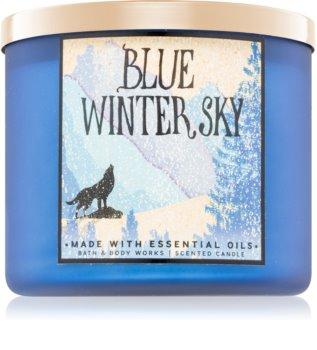 Bath & Body Works Blue Winter Sky illatos gyertya  Illatok lakásba 411 g