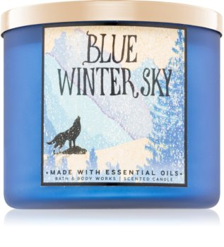 Bath & Body Works Blue Winter Sky vonná svíčka Vůně do bytu 411 g
