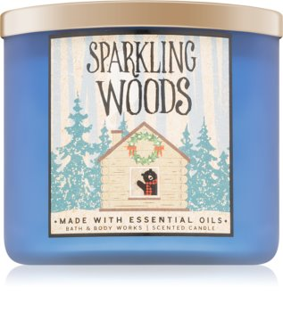 Bath & Body Works Sparkling Woods candela profumata 411 g