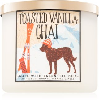 Bath & Body Works Toasted Vanilla Chai vonná svíčka Vůně do bytu 411 g