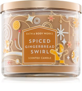 Bath & Body Works Spiced Gingerbread Swirl vonná sviečka 411 g