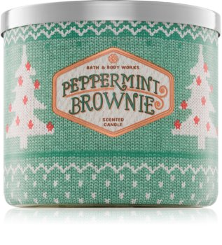 Bath & Body Works Peppermint Brownie vonná sviečka 411 g