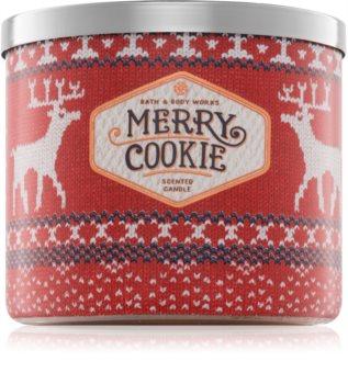 Bath & Body Works Merry Cookie vela perfumada  411 g