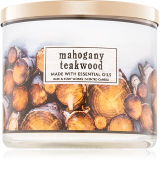 Bath & Body Works Mahogany Teakwood Duftkerze  411 g I.