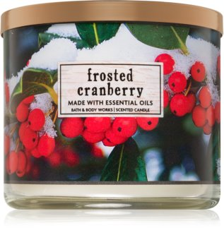 Bath & Body Works Frosted Cranberry scented candle I.