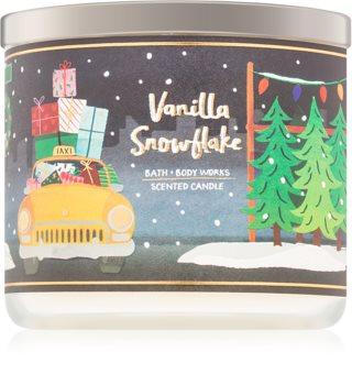 Bath & Body Works Vanilla Snowflake vonná svíčka 411 g