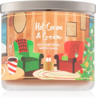 Bath & Body Works Hot Cocoa & Cream vonná sviečka V. 411 g