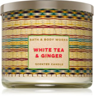 Bath & Body Works White Tea & Ginger Duftkerze  411 g
