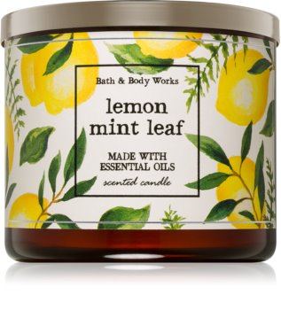 Bath & Body Works Lemon Mint Leaf Scented Candle 411 g I.