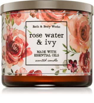 Bath & Body Works Rose Water & Ivy vonná sviečka 411 g