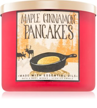 Bath & Body Works Maple Cinnamon Pancakes vonná svíčka 411 g
