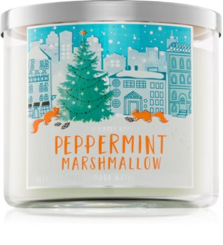 Bath & Body Works Peppermint Marshmallow vonná sviečka 411 g
