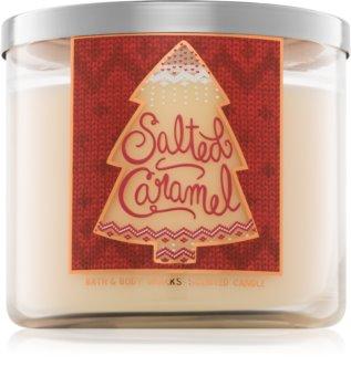 Bath & Body Works Salted Caramel dišeča sveča  411 g
