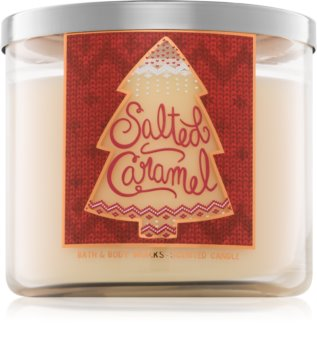 Bath & Body Works Salted Caramel vonná svíčka 411 g