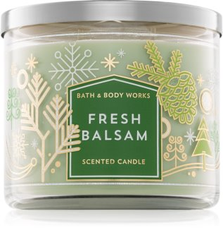 Bath & Body Works Fresh Balsam vela perfumada  III