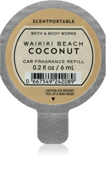 Bath & Body Works Waikiki Beach Coconut Autoduft 6 ml Ersatzfüllung