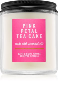 Bath & Body Works Pink Petal Tea Cake Scented Candle 198 g