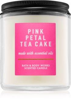 Bath & Body Works Pink Petal Tea Cake vonná svíčka 198 g