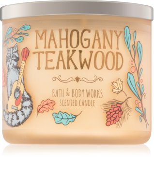 Bath & Body Works Mahogany Teakwood dišeča sveča  411 g IV.