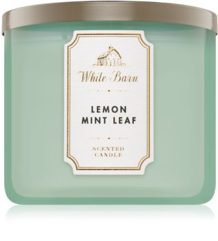 Bath & Body Works Lemon Mint Leaf Duftkerze  411 g