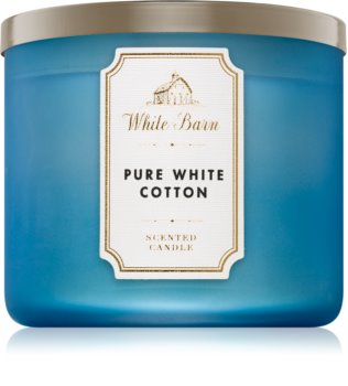 Bath & Body Works Pure White Cotton Duftkerze  411 g