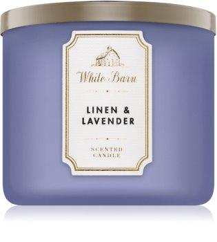 Bath & Body Works Linen & Lavender Duftkerze  411 g