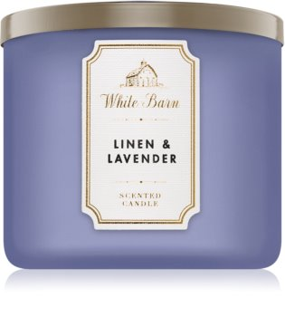 Bath & Body Works Linen & Lavender illatos gyertya  411 g