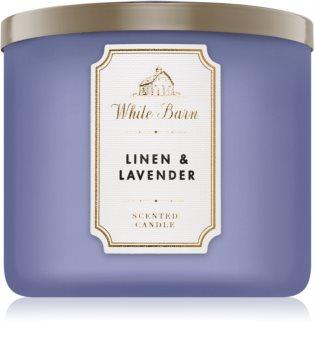 Bath & Body Works Linen & Lavender vonná svíčka 411 g