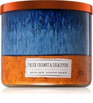 Bath & Body Works Fresh Coconut & Eucalyptus vonná svíčka 411 g